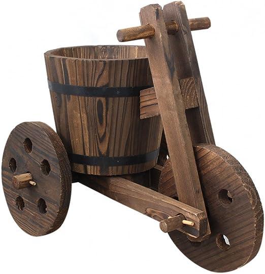 Hogar y Mas Macetero Original de Madera Natural para jardín Bicicleta Garden Friends: Amazon.es: Hogar