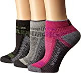 Wigwam Women's Ultra Cool Lite Low 3-Pack Grey/Pink Scample/Black Medium