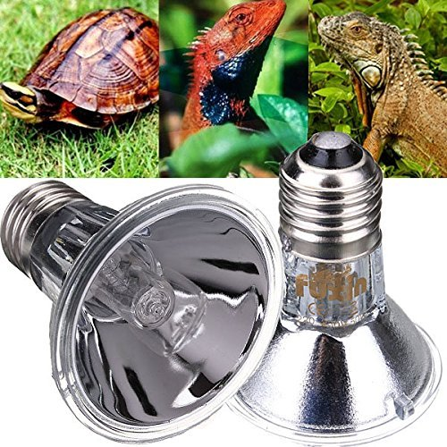 Bargain World E27 Reptile Halogen Spotlights Warm Basking Full Spectrum UVA UVB Bulb 7% Uvb Lamp