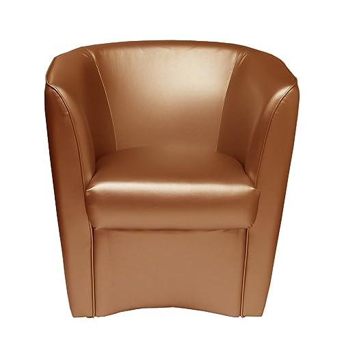 Sillón de eco-piel bronce fabricado en Italia para oficina ...