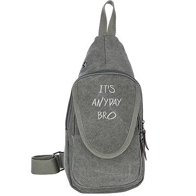 It s Anyday Bro Fashion Men s Bosom Bag Cross Body New Style Men Canvas  Chest Bags best b3bb1eca9b838