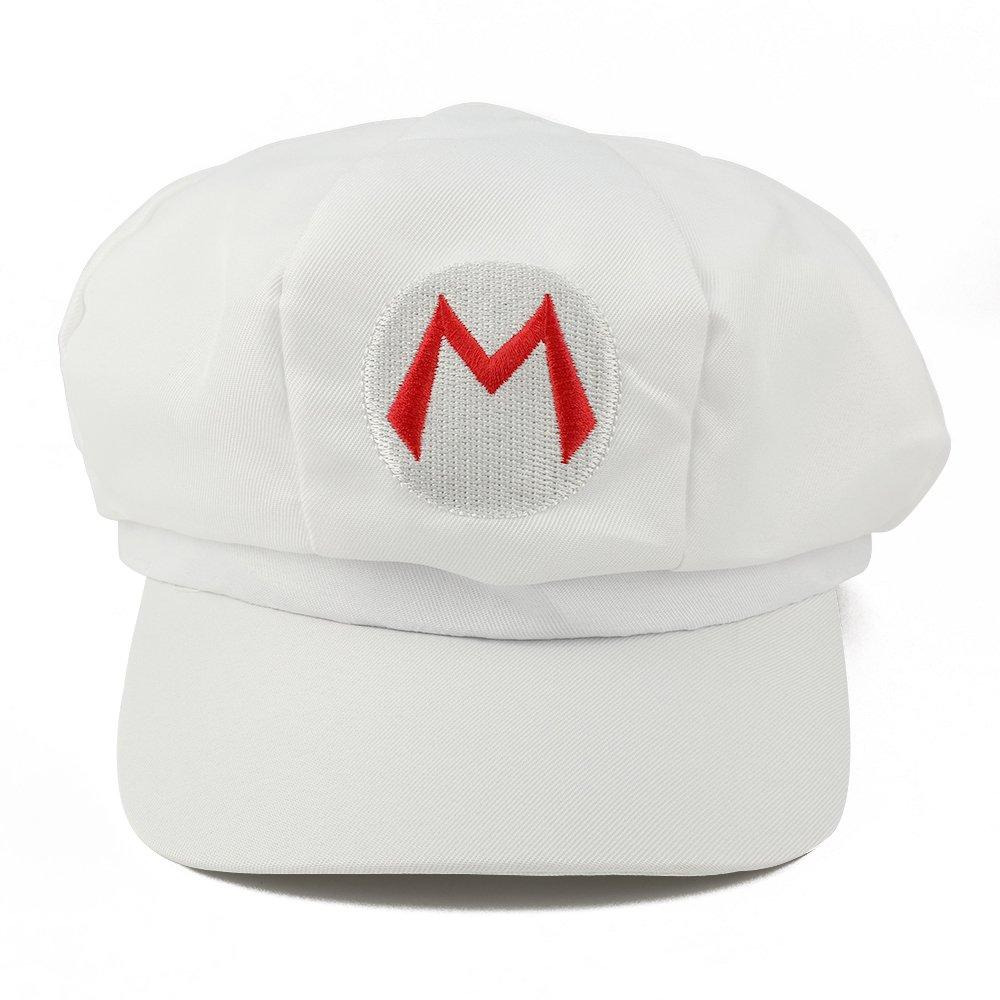 Armycrew Mario Luigi Wario Waluigi Fire Mario Embroidered Costume Newsboy Hat