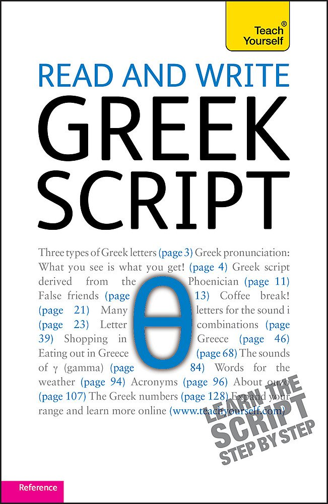 Read And Write Greek Script  Teach Yourself