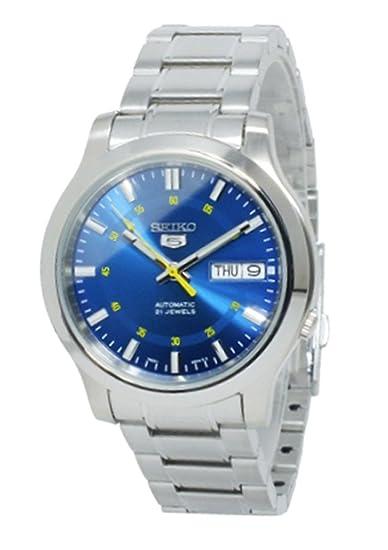 Reloj Seiko 5 Gent SNKN21K1 - Analógico Automático para Hombre en Acero inoxidable: Amazon.es: Relojes