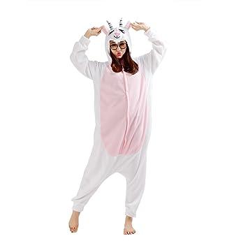 9ecf6ba1a5 CuteOn Erwachsene Anime Cosplay Kigurumi Pyjama Halloween Kostüm Sleepsuit  Cosplay Fleece Overall Kleidung Ziege Small