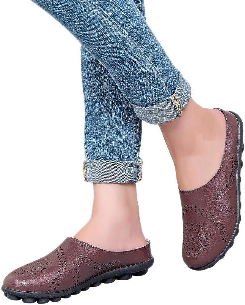 Behkiuoda Women Summer Slippers Shoes Flat Sandals Soft Bottom Plus Size Beach Shoes for Girl