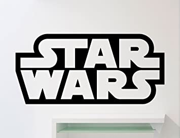 Star Wars Logo Wall Decal Star Wars Emblem Word Movies Vinyl Sticker Home  Nursery Kids Boy Girl