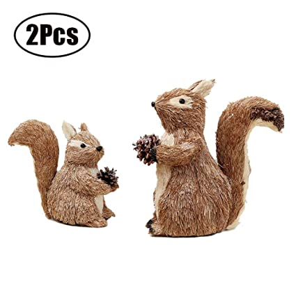 Christmas Squirrel.Amazon Com Feoowv 2 Pack Christmas Squirrel Dolls Ornament