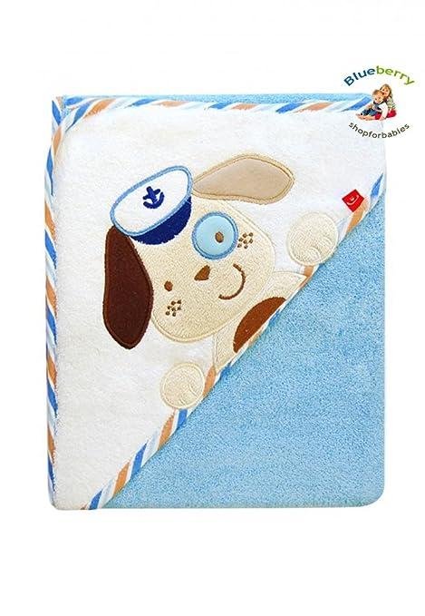 blueberryshop bordado algodón con capucha baño/toalla de piscina/Playa de regalo para bebé