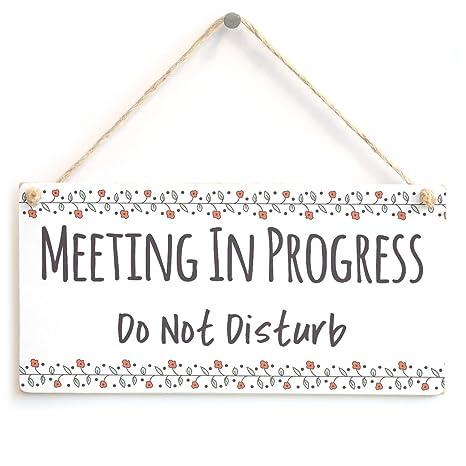 Amazon.com: Reunión en curso no molestar – funcional no ...