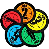 Hot Shots 7.5'' Basketball Training Markers, Pack of 5 by Crown Sporting Goods
