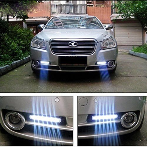 Luces Para Carro Lampara Delantera Afuera 8 Luces LED Super Blanco