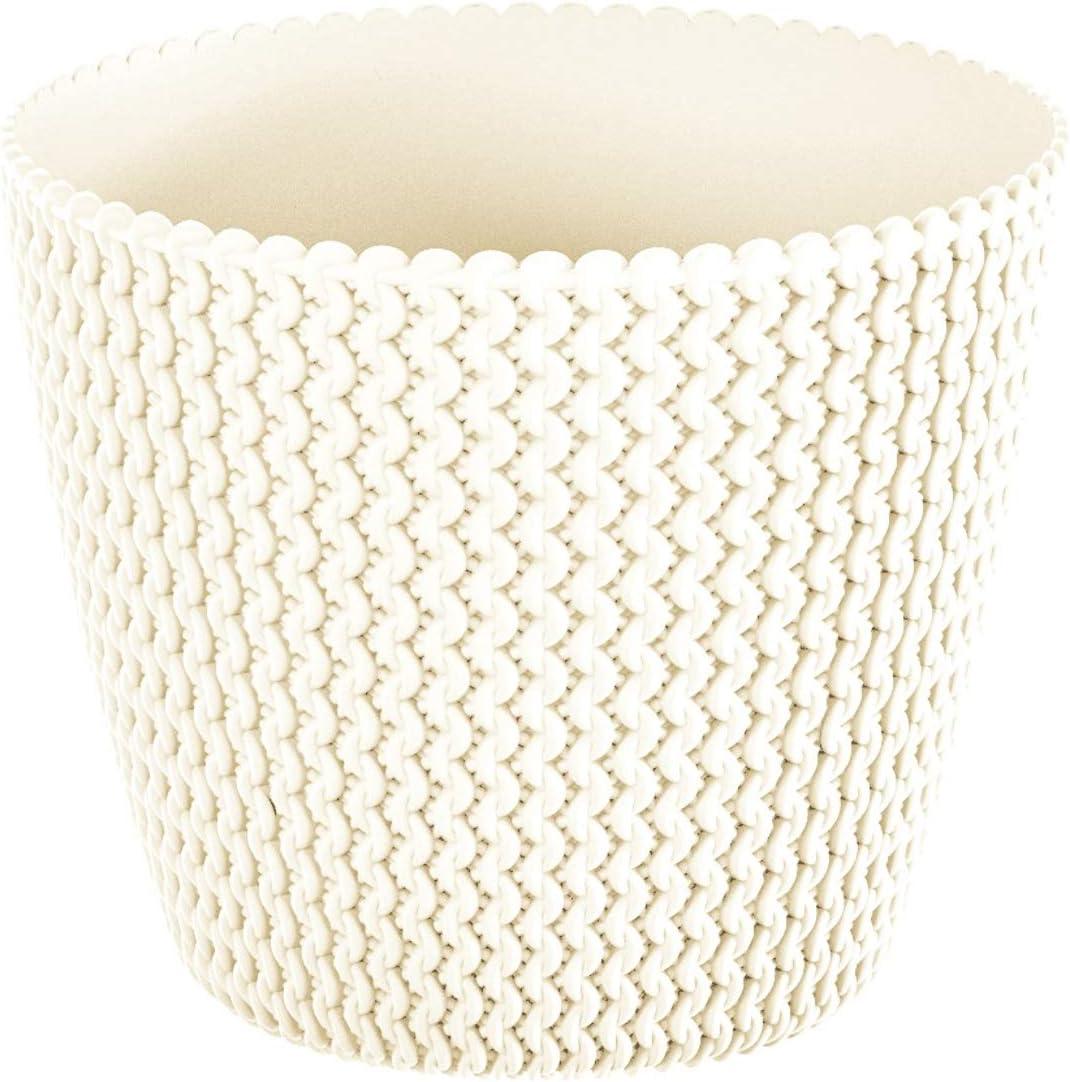Zanvic Vaso Modello splofy 2 13/cm Effetto Tricotado 13/cm Colore: Bianco