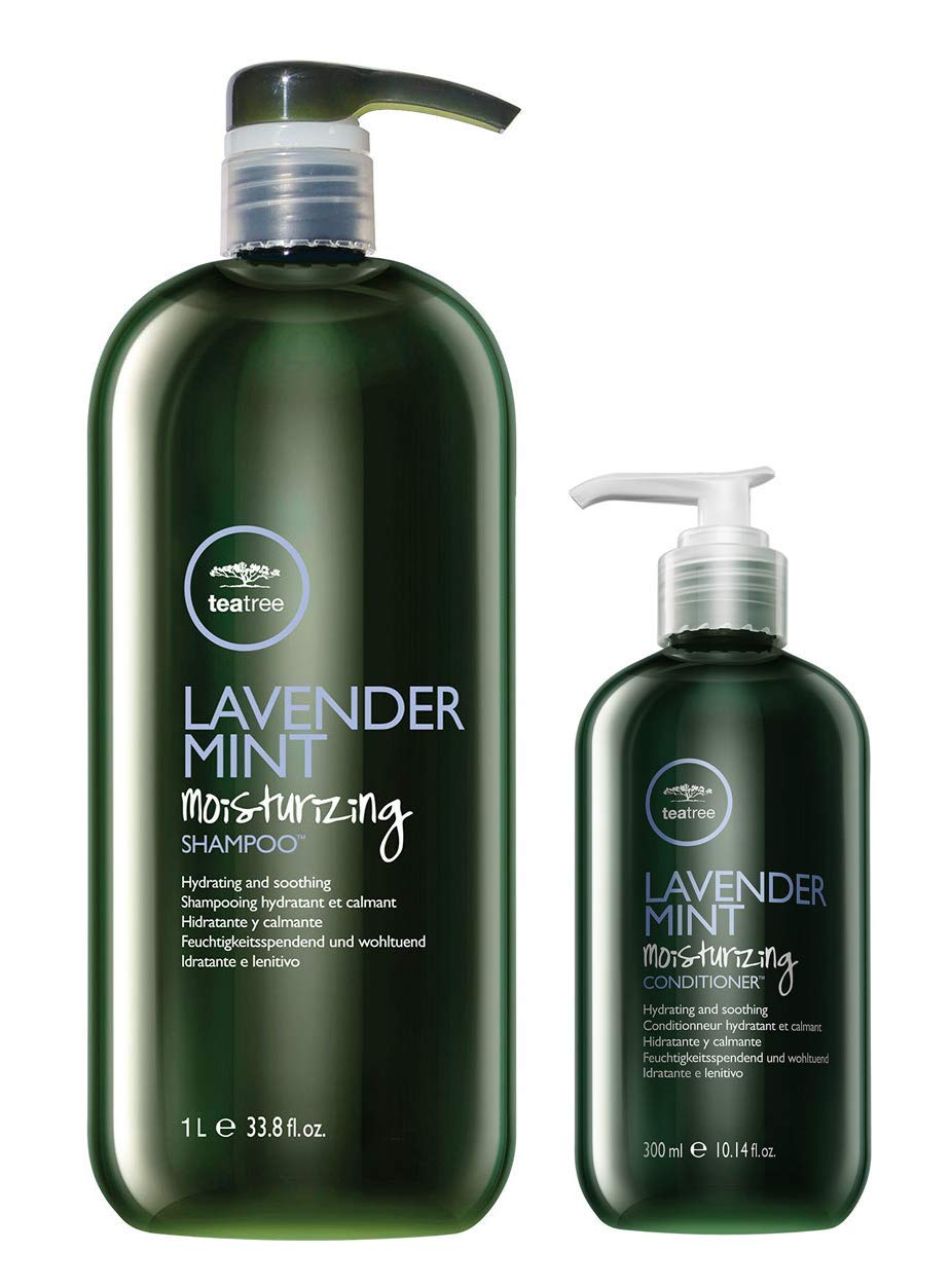 Paul Mitchell Tea Tree Lavender Mint Moisturizing Shampoo (33.8 oz) and Conditioner (10.14 oz) Duo by Paul Mitchell