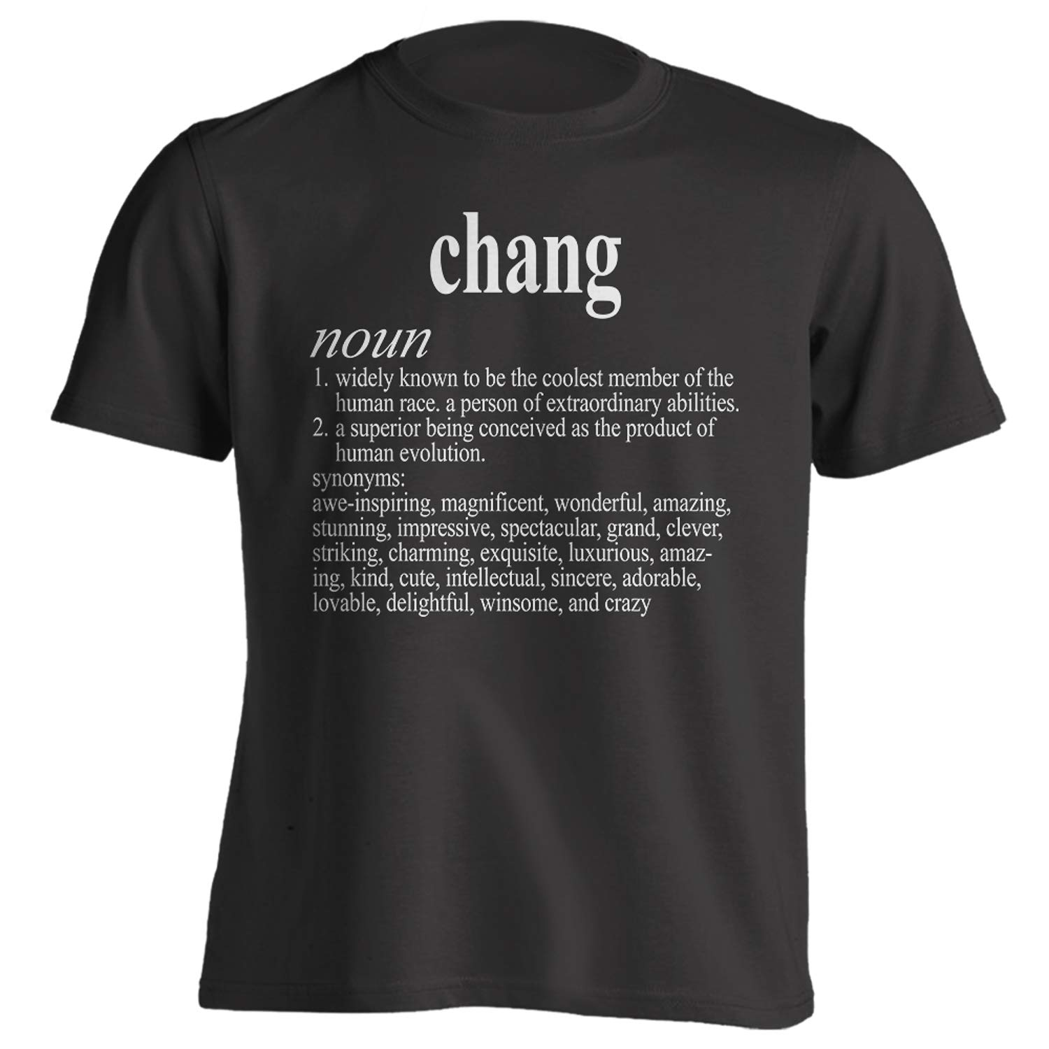 Vintage Style Chang Funny First Name Definition Adult T-Shirt