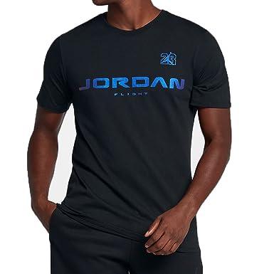 706ca0bcac1dfe Jordan Retro 13 JSW Men s Casual Fashion T-Shirt Black Hyper Royal aj7375-