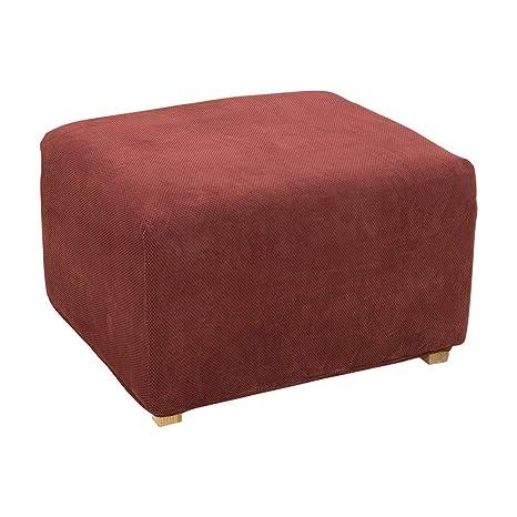 Astounding Surefit Stretch Pique Oversized Ottoman Slipcover Garnet Andrewgaddart Wooden Chair Designs For Living Room Andrewgaddartcom