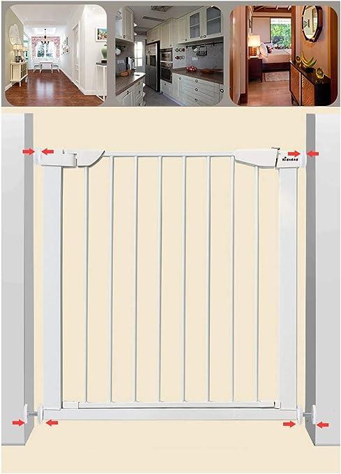 Barandilla de seguridad for niños, escalera de barandilla de seguridad, más de 90 ° normalmente abierta, paso extra ancho de 60 cm, sistema de protección de tres capas (Color : 75-82cm(29.5-32.2in)) : Amazon.es: Hogar
