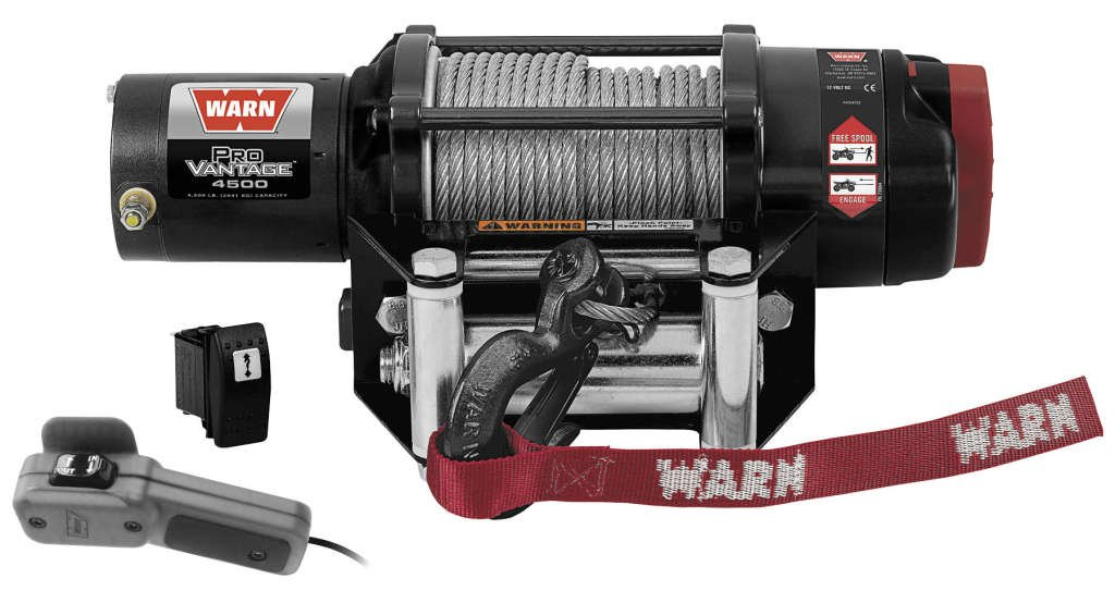 New Warn ProVantage 4500 lb Winch With Model Specific Mounting Hardware - 2009-2013 Kawasaki Teryx 750 4x4 Sport UTV