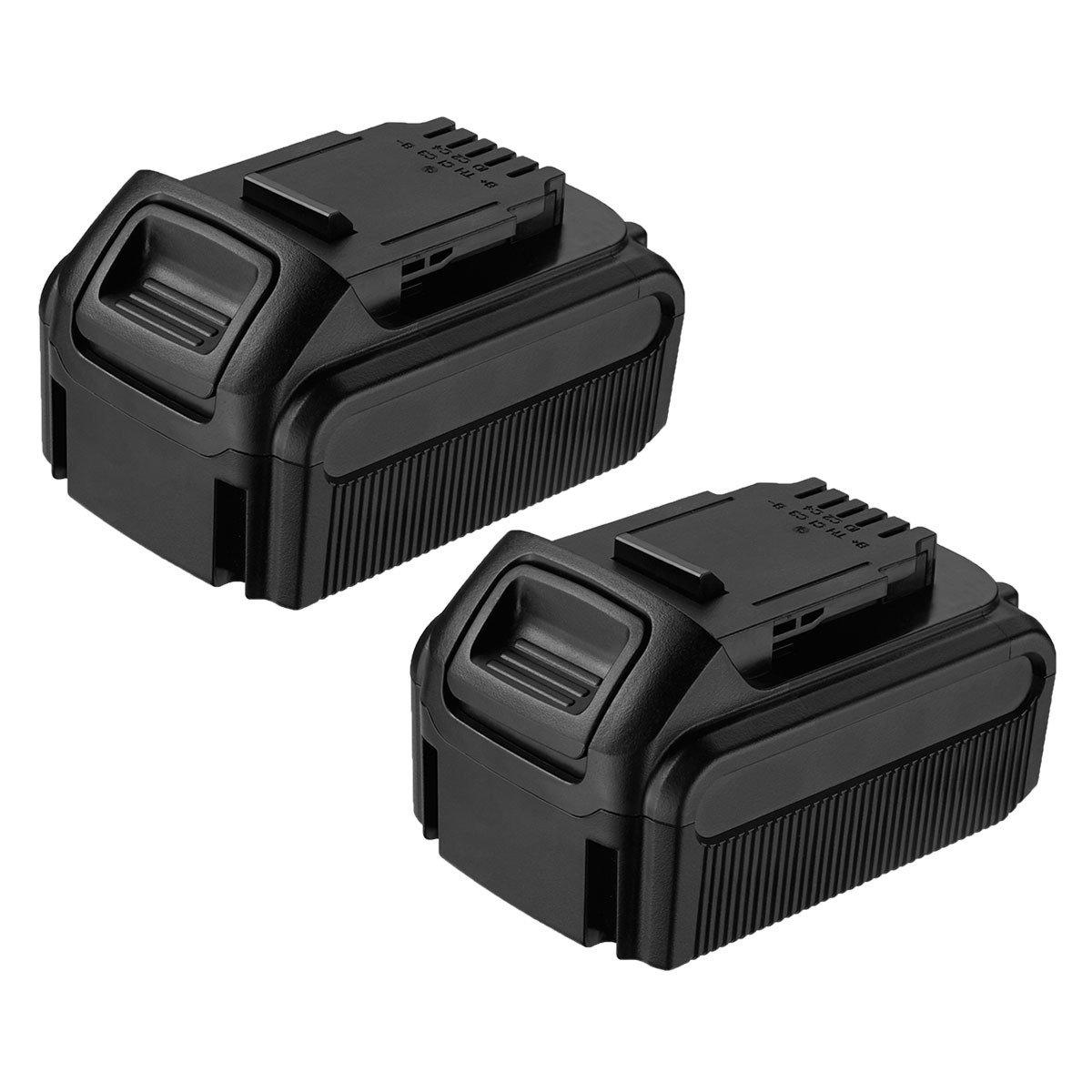 FirstPower 2 Pack 5.5Ah Dewalt 20V Max XR Lithium Ion Replacement Battery for XR DCB205 DCB205-2 DCB204 DCB203 DCB201 DCS380B DCD/DCF/DCG/DCS Series 20V Dewalt Battery