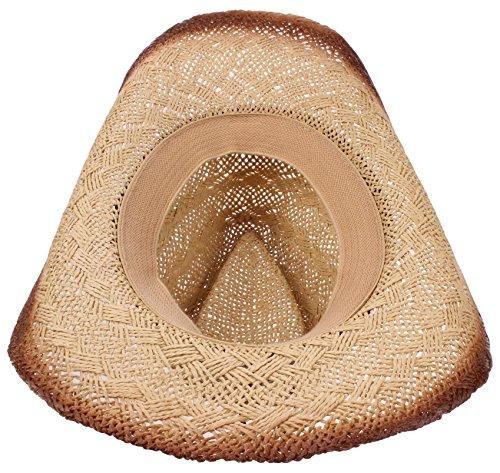 b3ab7ba6628a4 Enimay Western Outback Cowboy Hat Men s Women s Style Straw Felt Canvas