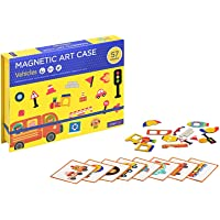 MierEdu Magnetic Art Case Vehicals- Magnetic Puzzles for Kids. Learning Puzzle