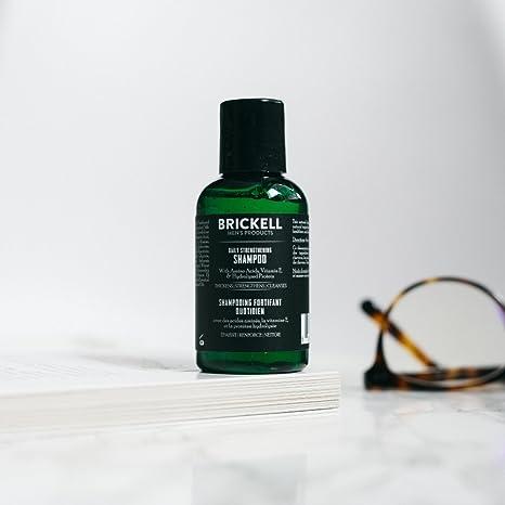 Brickell Mens Products – Champú Fortificante Diario para Hombres Natural y Orgánico – 60 ml