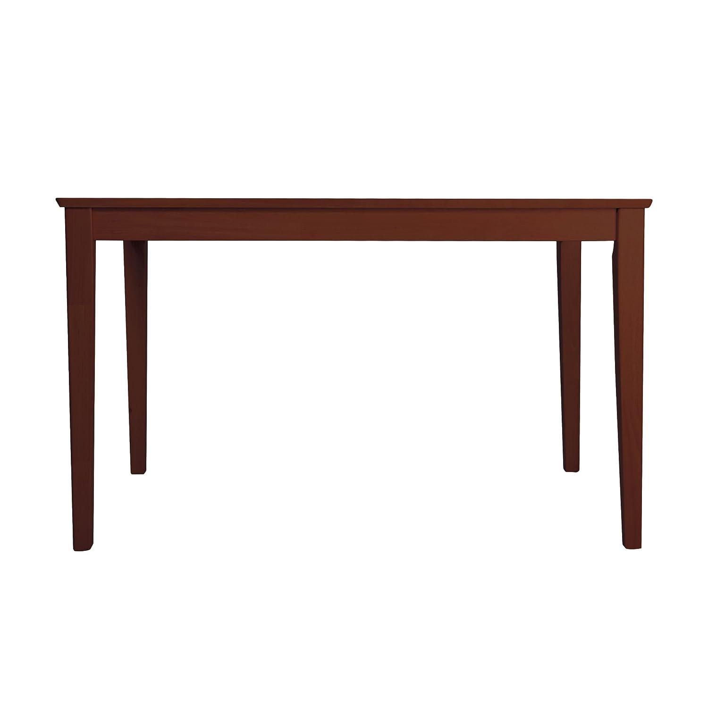 3244 木製ダイニングテーブル ラバーウッド MTS-060 (ナチュラル, W1200) B01N2AJT1N W1200|ナチュラル ナチュラル W1200
