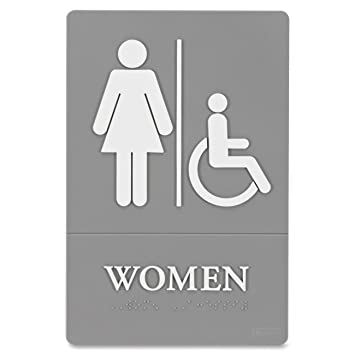 Quartet Women Bathroom Sign, Handicap Accessible, ADA Approved, 6u0026quot; X  9u0026quot;