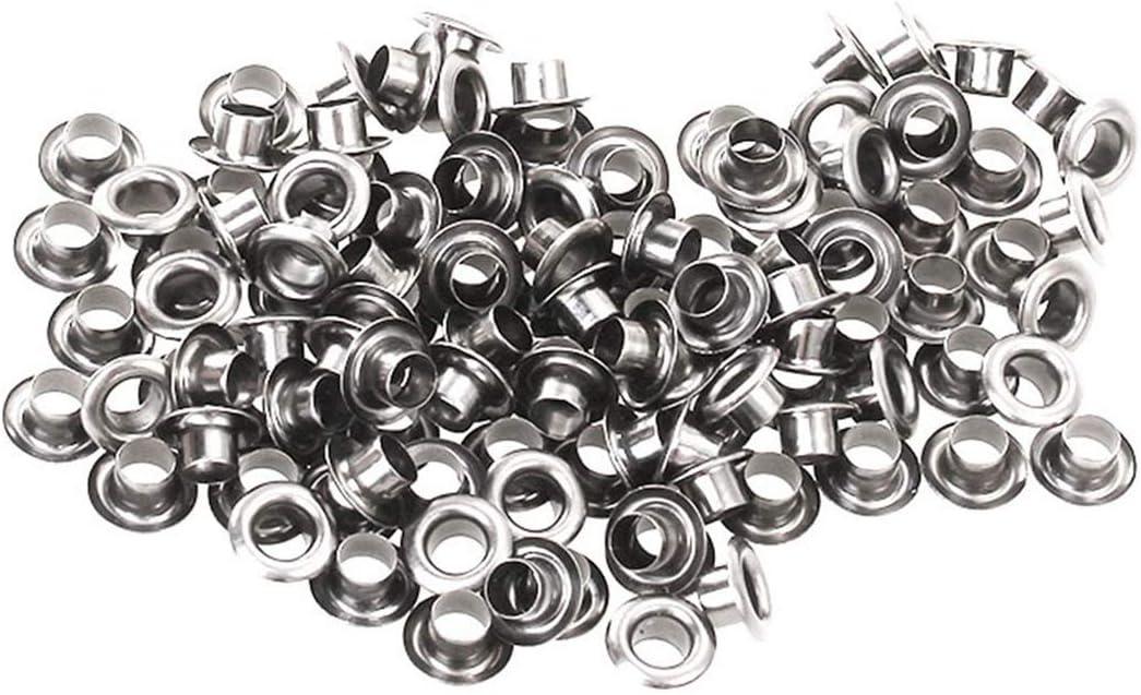 200pcs//lot 1.5mm//2 mm//2,5 mm Agujero ojetes de metal con ojales de cuero DIY de Scrapbooking Zapatos//correa//casquillos//bolsa//Etiquetas//Ropa Accesorios