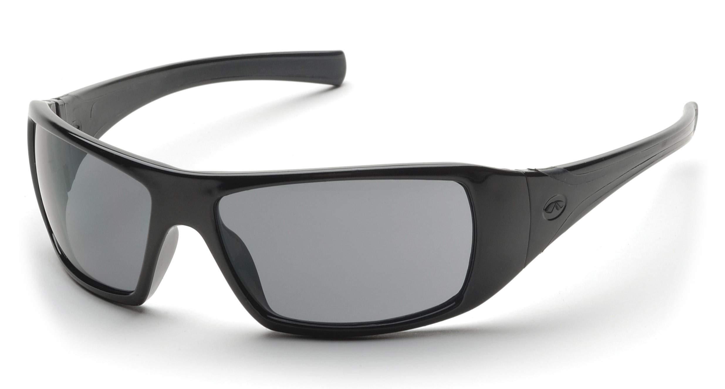 Pyramex Goliath Safety Eyewear, Black Frame, Gray Polarized Lens by Pyramex Safety