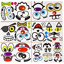 24 Pack Make A Jack-O-Lantern Face Sticker Sheet Set - Halloween Stickers To Bring Your Pumpkins To Life - Let Your Kids Get Creative With Various Designs Available - M & M Products Online