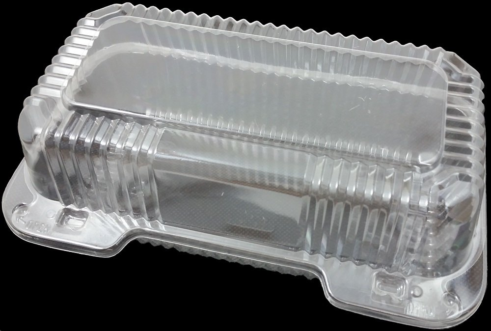 Dart Clear Hinged Lid Plastic Container 9