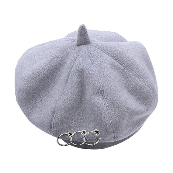 Gorro de Lana de Gorro de Lana para Mujer Gorros franceses Gorros de  Invierno para Mujer Sombrero de niña  Amazon.es  Ropa y accesorios d7a0e22f8bf