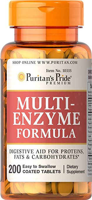 Amazon.com: Puritan s Pride Multi enzyme-200 tabletas ...