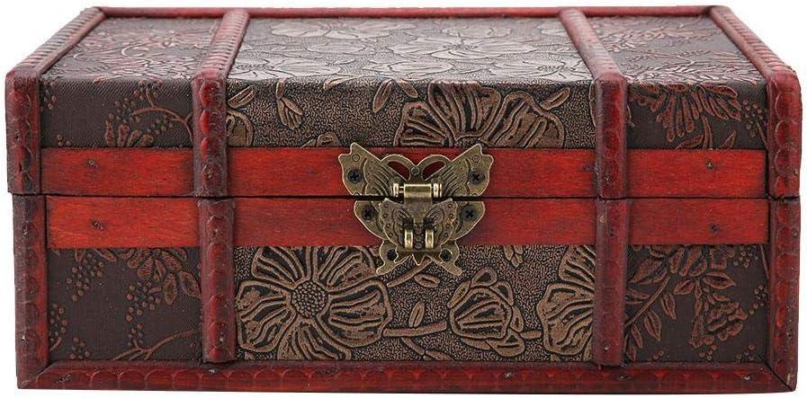 Storage Box Vintage Wooden Large Book Jewelry Storage Box Organizer Old-fashioned Antique Style Wedding Decor For Decorative Treasure Stash Box Birthday Party(#2)