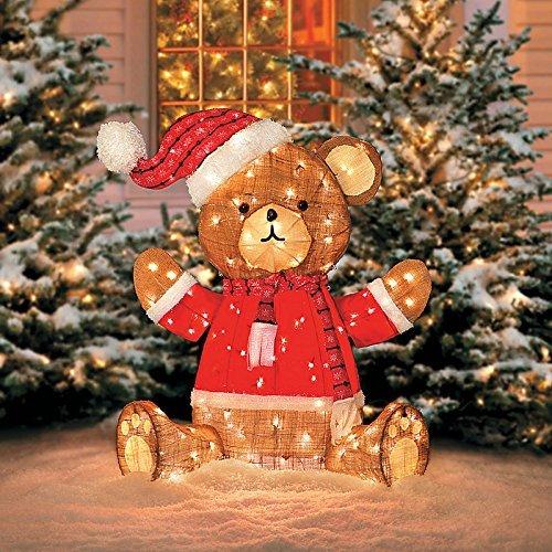 Outdoor Lighted Teddy Bear - 1