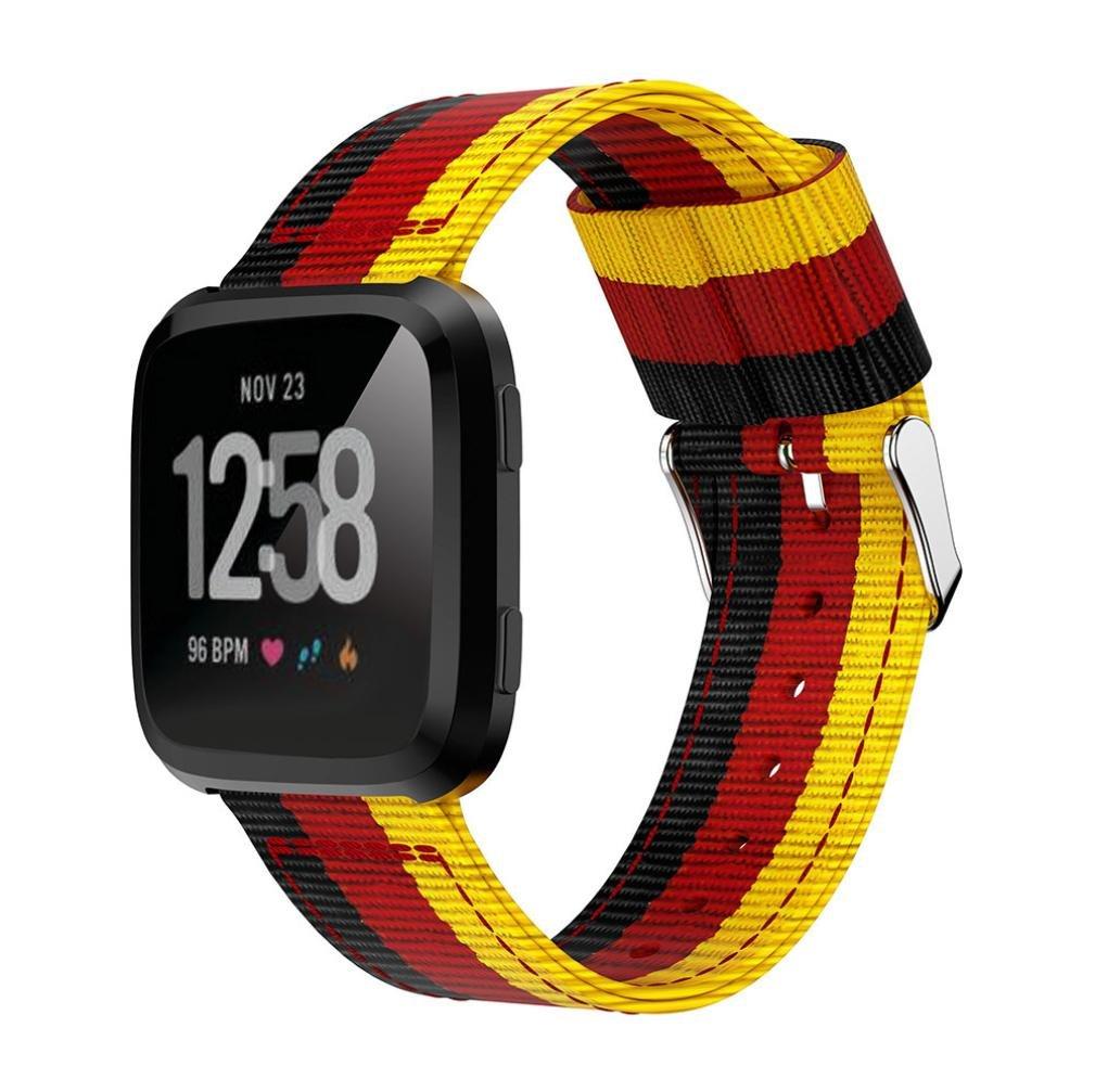 fiaya Fine Wovenナイロン調節可能な交換用バンドスポーツストラップfor Fitbit Versa 12  A B07C9RWDMV
