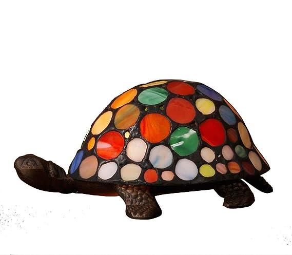 Werschildkröten Beleuchtung Dauer | Ausverkauf Wunderschon Mehrfarbig Tiffany Inspiriert Schildkrote