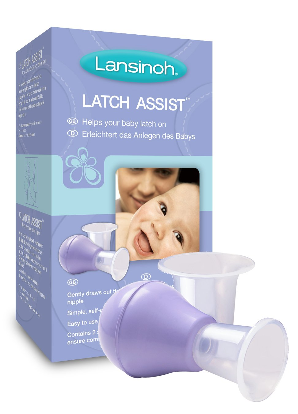Lansinoh Latch Assist Nipple Everter with Case 70180