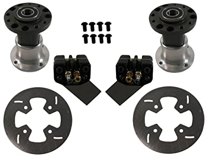 Amazon com: NEW MCP FRONT GO KART BRAKE KIT WITH HUBS, 6