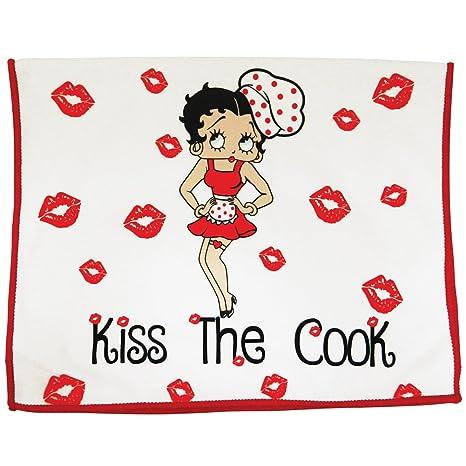 Amazon.com: Betty Boop toalla de cocina – Kiss the Cook ...