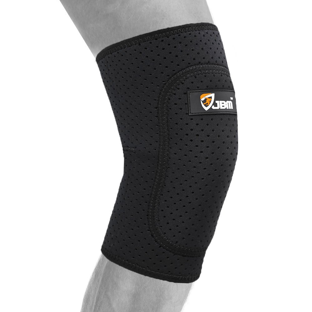 JBM大人用バレーボール膝パッドガードブレース膝蓋骨Shinサポートプロテクター膝スタビライザー安全快適な伸縮性耐久性影響抵抗Pain Relief forバスケットボールフットボールサッカー B01AG7R4MS 1 pcs * Black - Medium