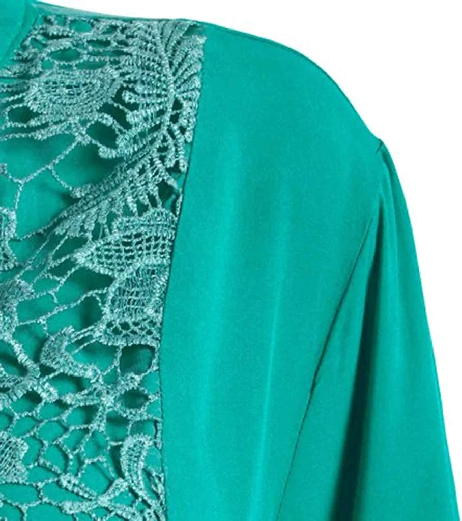 Womens Classic Roll up Sleeve V Neck Shirt Floral Lace Button Down Blouses Tops Loose Casual Solid Tunic Tops