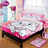 Marie Cat Kitty Disney Comforter Pink Fuzzy Fleece Blanket Sheet Set Full/Mat 5PC Girl LIMITED EDITION