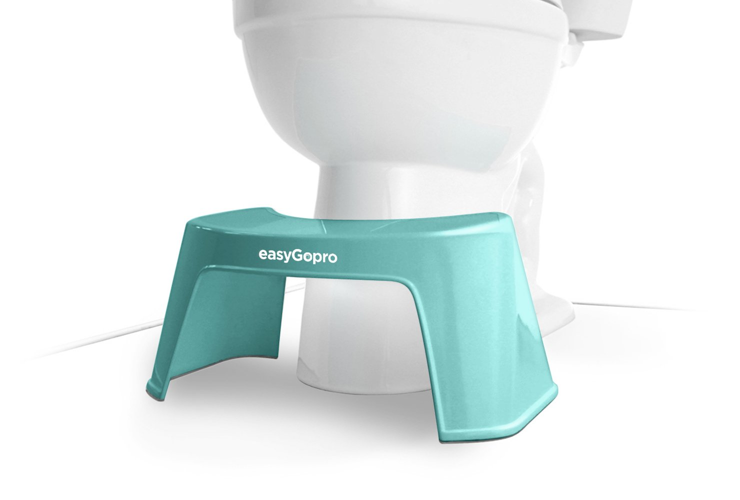 EasyGopro Go Time Just Got Easier 7.5'' Bathroom Squatty Toilet Stool and Pedicure Foot Rest | Compact Size | Blue by easyGopro