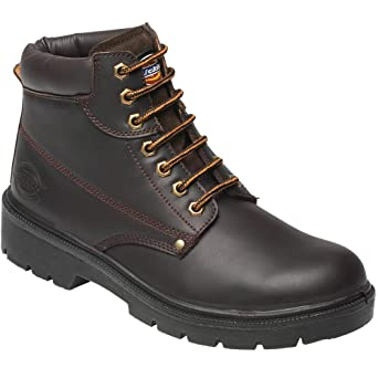 a51cc201347 Dickies FA23333 BR 5+ Antrim S1-P Safety Work Boots, Brown, Size 5.5