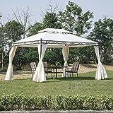 Outsunny Party Gazebo Tent, 3x 4m, Cream