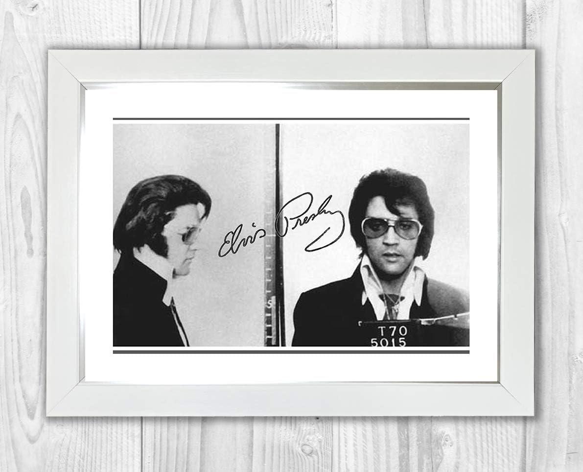 Elvis Presley signed autograph Music A4 Art print poster Framed