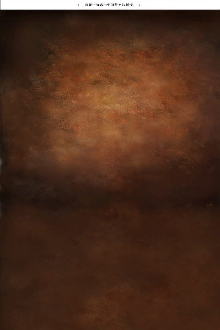 A.Monamour Toiles de Fond Photo Cafe Brun Pur Solide Couleur De La Terre en Tissu De Vinyle Studio Murale Photographie Decors 1.5mx2.1m